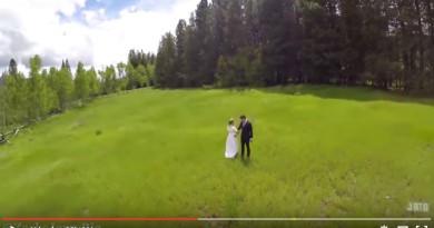 10秒後便失手! 無人機影婚紗相的加料特效
