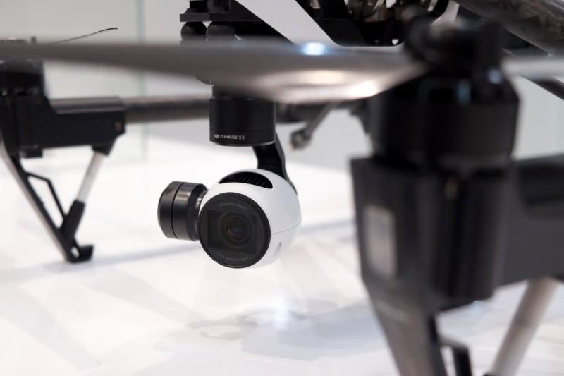 圖為 DJI Inspire 1 的航拍攝影機。