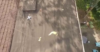 他用最霸氣的方式去拯救墜落鄰居家中的無人機!
