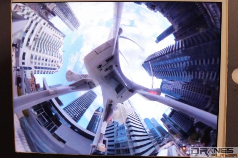 Bublcam 裝配在 DJI Phantom 2 上的航拍示範效果。