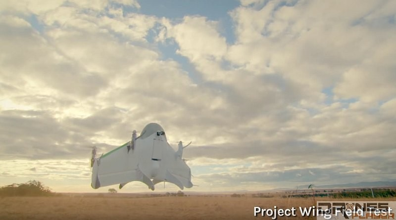 Google Project Wing drone testing in Australia
