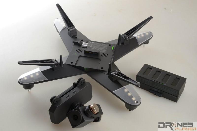 XIRO Explorer V 採模組式設計,機體可摺合,攝影機模組和電池均可拆除。