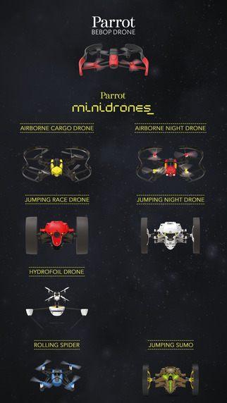 《Parrot Freeflight 3》不但可供遙控 Parrot 旗艦級產品 Bebop Drone,甚至MiniDrones 系列機種的操控大權也在其掌握之中。