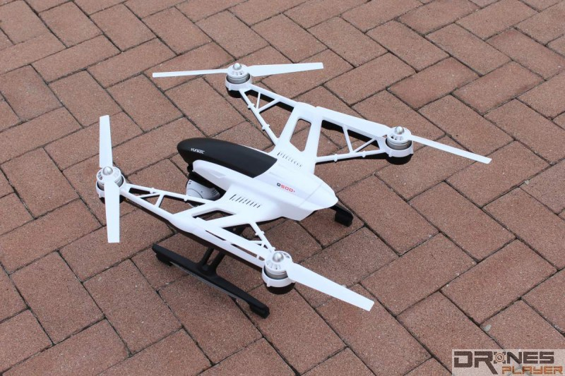 Q500+ 採用以左右兩桿支撐槳翼。