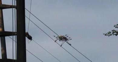 滑行於電纜上的無人機 SKIVE Powerline Hybrid UAV 檢查高壓電塔