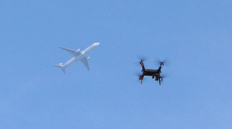 無人機有機會與飛機相撞