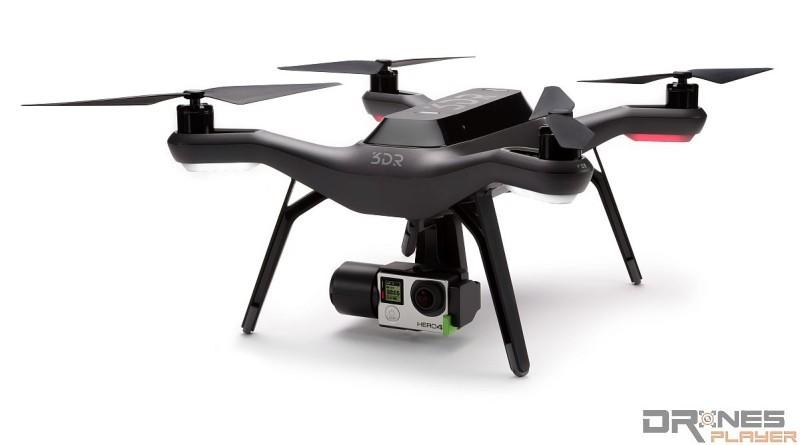 3D Robotics Solo 裝上原廠雲台和 GoPro 運動相機後,才是航拍機「完全體」。