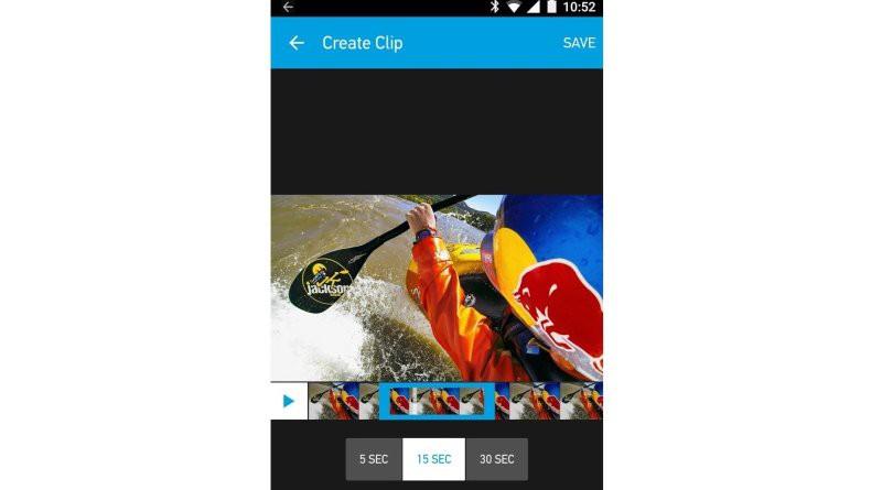 用戶可將航拍片段剪輯成 5 秒、15 秒或 30 秒的短片。