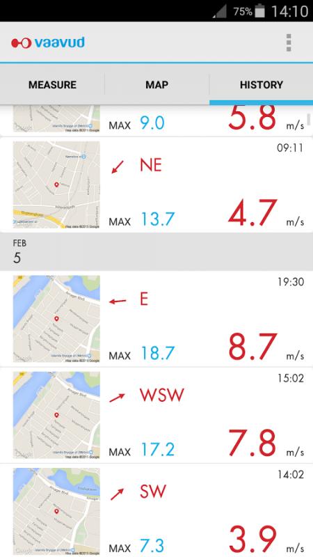 《Vaavud Wind Meter》可記錄風速數據,方便航拍玩家作事後檢討。