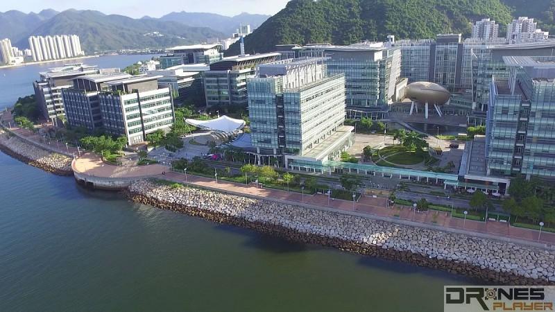 沙田科學園可航拍吐露港和沙田海兩岸的景色。