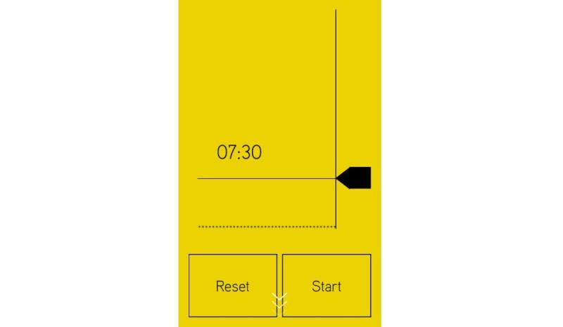 《Hover》介面設計搶眼醒目,計時器以圖表方式來顯示。