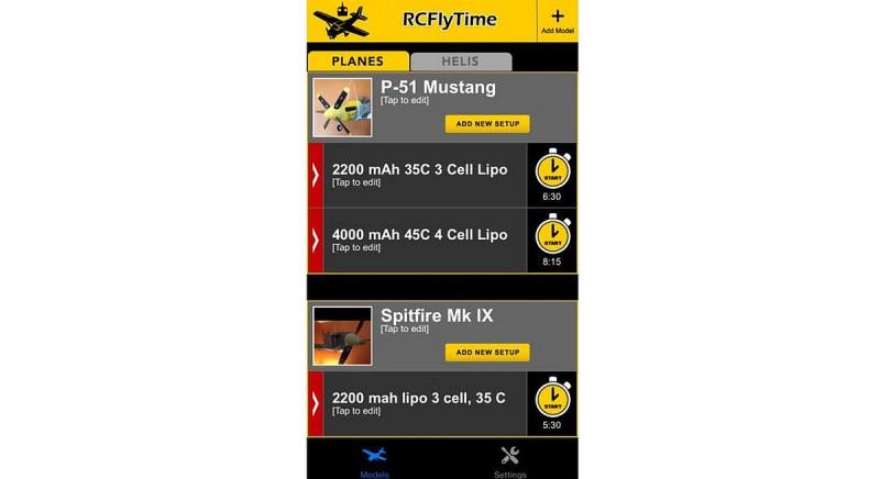 《RCFlyTime Lite》另設 15 美元收費版,可讓航拍玩家按無人機型號作出分類,適合擁有多部航拍機的玩家安裝。