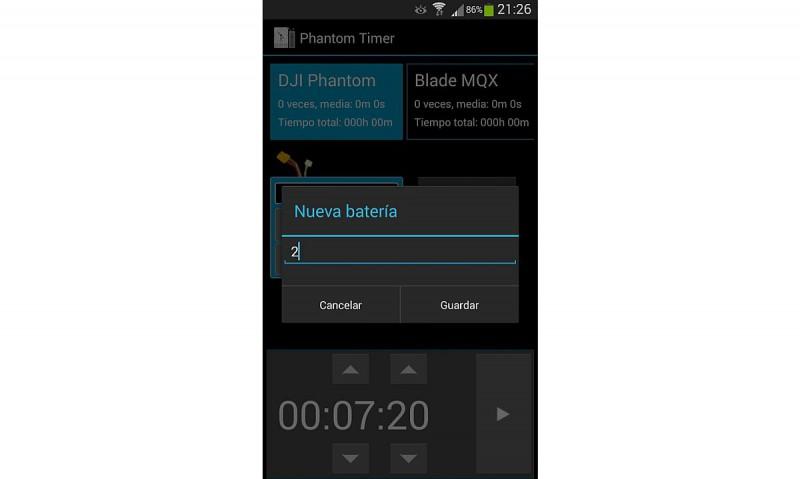 《DJI Phantom Timer》介面設計比《RCFlyTime Lite》更為簡單,勝在分類清晰仔細。