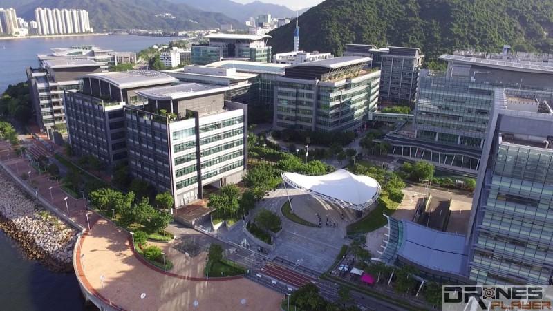 DJI Phantom 3 Standard 航拍科學園的建築景觀,樓宇窗戶清晰細緻。