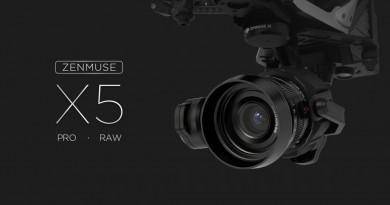 航拍專用M4/3相機 DJI Zenmuse X5 超高清登場