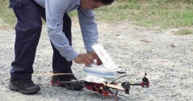 亞洲首飛!新加坡無人機郵遞包裹測試成功