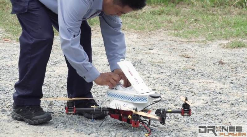 新加坡郵政無人機郵遞包裹測試成功