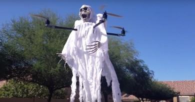 羅蘭姐後繼有人!無人機扮鬼嚇人 萬聖節四圍飄