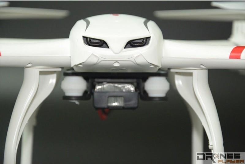 一般低階無人機如 MJX X101 都會提供無頭模式。