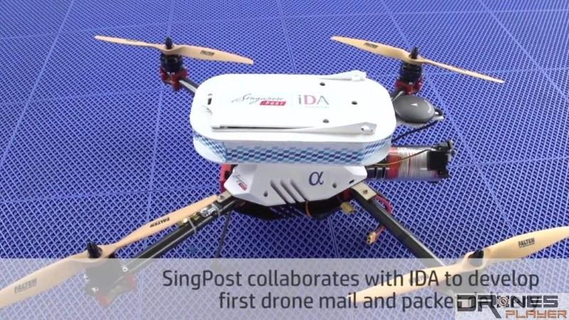 新加坡郵政採用特製的無人機來進行今次的空中送件測試