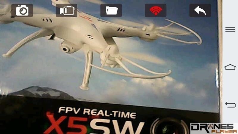 《SYMA FPV》可顯示實時FPV影像,以便用戶進行拍照或攝錄操作。