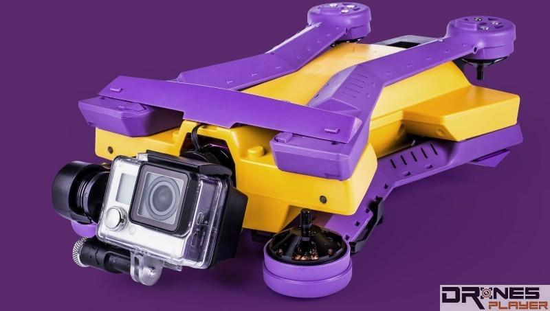 AirDog 無人機連軸臂也可收疊起來 。