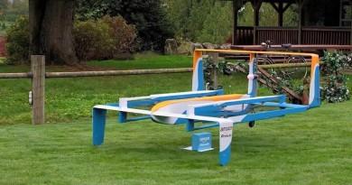 Amazon 無人機全新造型曝光!定翼加 9 軸旋槳混合式機體