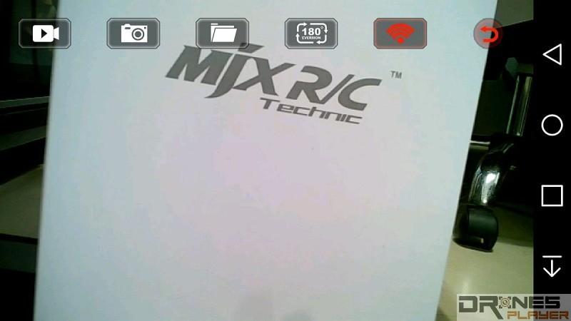 《MJX  FPV》app 可顯示實時畫面,並可操控拍照、錄影。