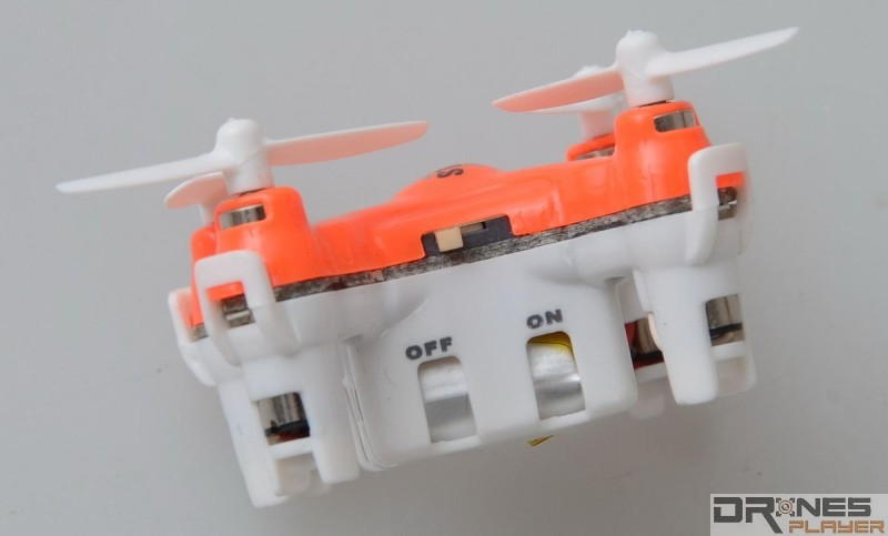 DHD D1 Drone 迷你無人機機身上設有獨立開關掣。