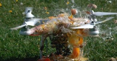 無人機旋翼很鋒利是常識吧!想不到斬瓜切菜的威力更驚人!