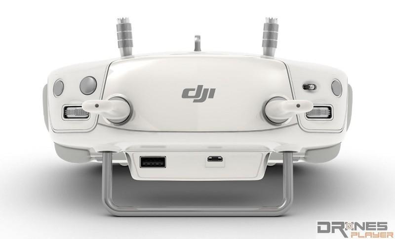 Phantom 3 Pro 機頂有兩個快速盤,一個控制鏡頭角度,一個控制快門或 ISO 設定,都是針對拍攝而作的考慮。