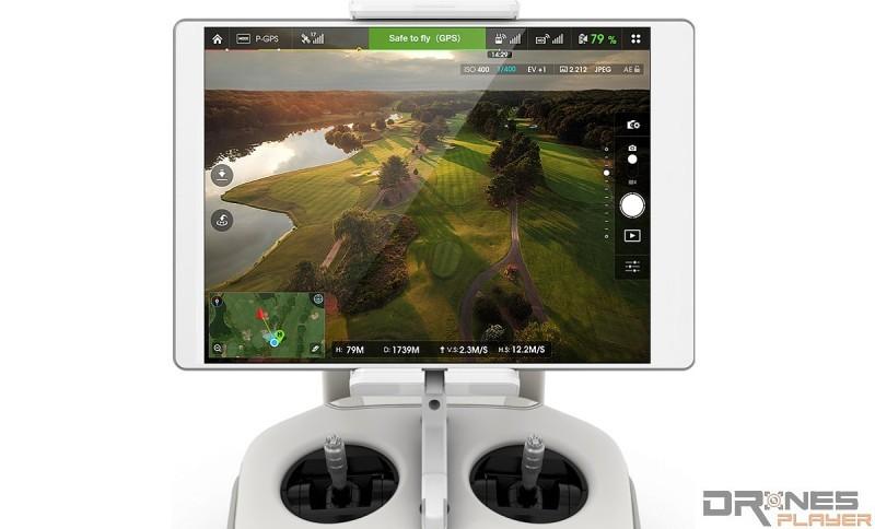 Phantom 3 Pro 的 app 介面跟 Inspire1、Phantom 3 Standard 完全相同,只有些微細節設定有分別。