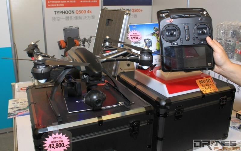 另一款在資訊月台北場上展出的 Yuneec Q500 4K,主打 4K 超高清空拍功能,是大疆DJI Phantom 3 Professional 的主要競爭對手。