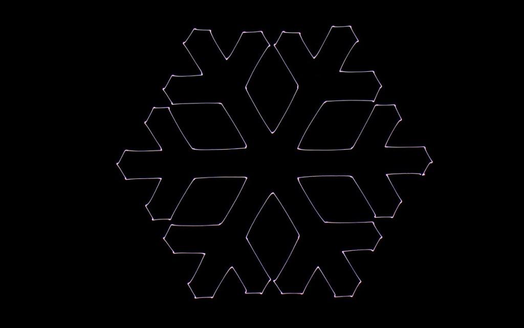 Ascending Technologies 光影塗鴉:六角形雪花