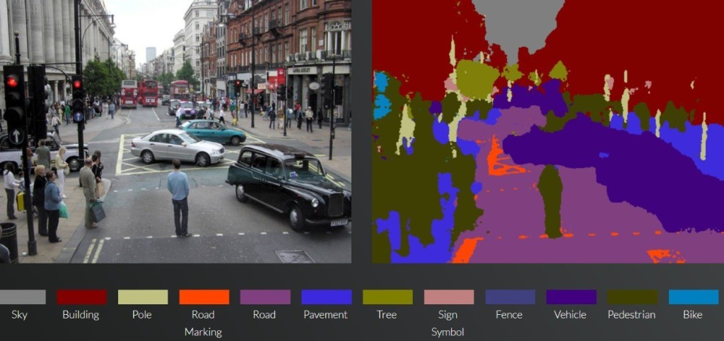 SegNet 辨識地面不同物件準確度頗高。