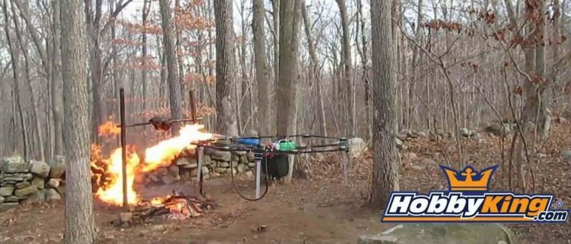 無人機用火槍烤火雞