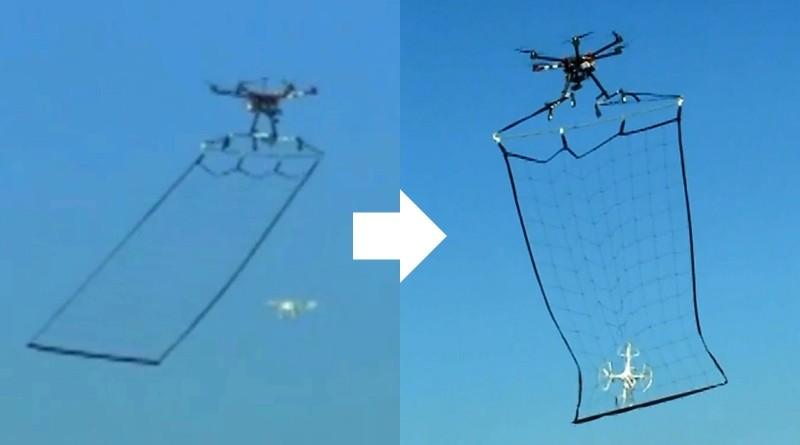 東京警視廳利用 6 軸飛行器,成功生擒 4 軸無人機。