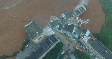 航拍機直擊深圳柳溪工業園山泥傾瀉後的現場