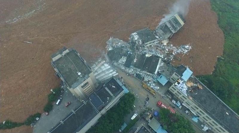 航拍機直擊深圳柳溪工業園山泥傾瀉