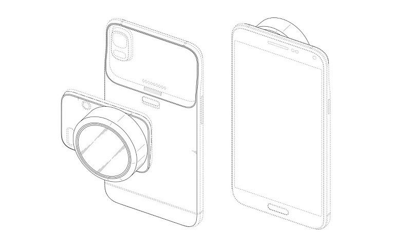 Samsung 可換鏡相機模組可安裝於智能手機的機背,取代手機原有的攝影鏡頭。