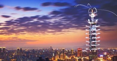 無人機首度空拍直播 台北 101 跨年煙火表演