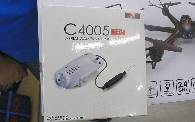 MJX X400 隨機附送的 C4005 FPV 航拍攝影機。