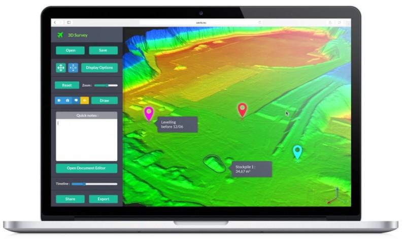 遙控 UAVIA 無人機和檢視數據的網頁介面