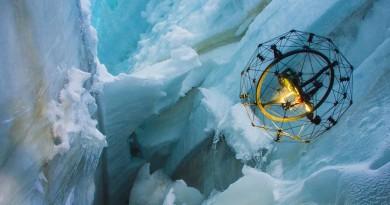 深入冰川狹縫搜救 球形無人機 Gimball 好撞得!