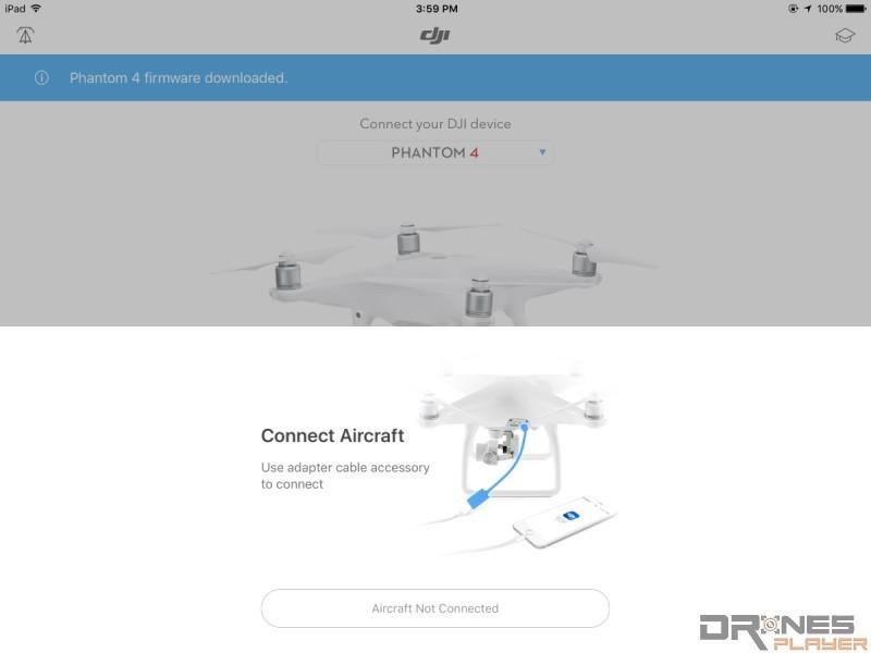 Phantom 4 DJI Go 韌體更新