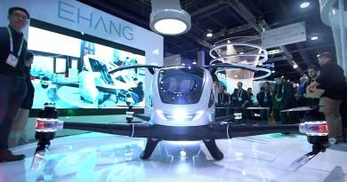 CES 2016直擊: 國產指揮艇出擊!億航184 可載人自駕無人機