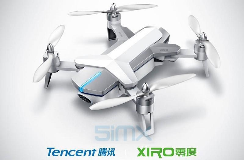 網上流出一張疑似是騰訊無人機的宣傳圖片,圖中明確印上「Tencent 騰訊」 及「XIRO 零度」的標誌。