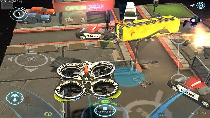 Air Hogs Connect 在手機上的虛擬實境畫面。