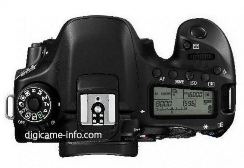 Canon 80D 機頂的介面布局(圖片來源:digicame-info.com)
