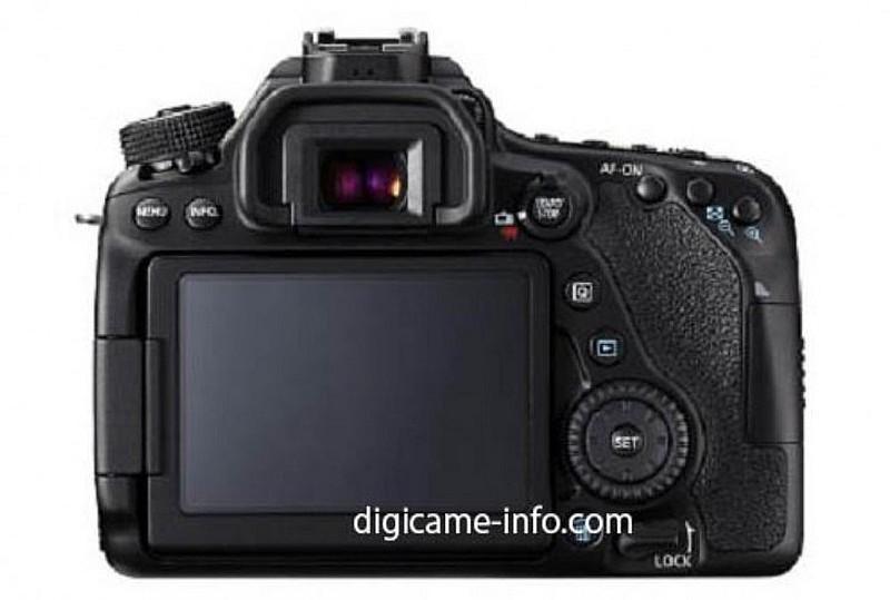 Canon 80D 機背主介面的布局(圖片來源:digicame-info.com)